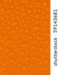 water drops on orange | Shutterstock . vector #59143681