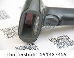 bluetooth barcode and qr code... | Shutterstock . vector #591437459