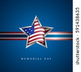 american memorial day graphic... | Shutterstock .eps vector #591438635