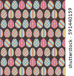 easter eggs pink blue and... | Shutterstock .eps vector #591440159