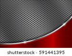 metal perforated background... | Shutterstock .eps vector #591441395