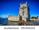 portugal  belem  torre de belem | Shutterstock . vector #591444131