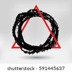 grunge background template... | Shutterstock .eps vector #591445637