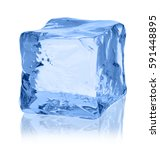 ice cube on white background | Shutterstock . vector #591448895