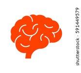 brain icon flat. | Shutterstock .eps vector #591449579