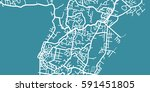 detailed vector map of suva ... | Shutterstock .eps vector #591451805