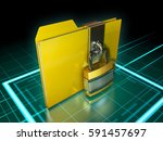 data folder protected by a... | Shutterstock . vector #591457697