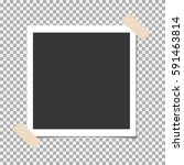 photo frame with adhesive ... | Shutterstock .eps vector #591463814