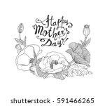 happy mother's day vector...   Shutterstock .eps vector #591466265