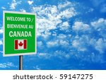 bilingual 'welcome to canada'... | Shutterstock . vector #59147275