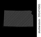 striped kansas map isolated on... | Shutterstock .eps vector #591474581
