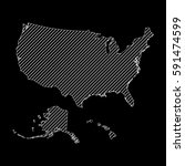 striped united states map... | Shutterstock .eps vector #591474599