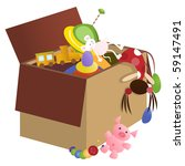 toy box  vector version  | Shutterstock .eps vector #59147491