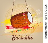 happy baisakhi  vector... | Shutterstock .eps vector #591477365