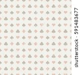 seamless card suits pattern... | Shutterstock .eps vector #591483677