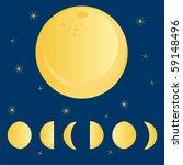 moon phases over sky | Shutterstock .eps vector #59148496