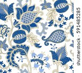 seamless pattern with fantasy... | Shutterstock .eps vector #591485285