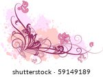 rose composition with flowers | Shutterstock .eps vector #59149189