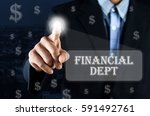 business man pointing hand on...   Shutterstock . vector #591492761