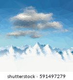 mountains background vector... | Shutterstock .eps vector #591497279