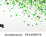 background with four leaved... | Shutterstock .eps vector #591498974