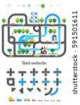 road constructor. transport... | Shutterstock .eps vector #591501611