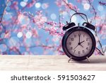 spring time change concept with ... | Shutterstock . vector #591503627