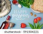 passover holiday greeting card... | Shutterstock . vector #591504221