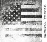 grunge usa flag | Shutterstock . vector #591504611
