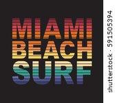 surf miami sport typography ...   Shutterstock .eps vector #591505394