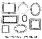 hand drawn doodle frames | Shutterstock .eps vector #59150773