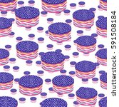 round cake seamless pattern.... | Shutterstock .eps vector #591508184