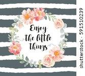 Romantic Wreath With Quote...