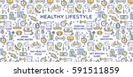 healthy lifestyle vector...