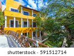 hotel in cancun. mexico | Shutterstock . vector #591512714