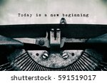 Today Is A New Beginning Words...