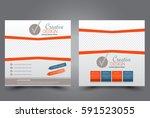 square flyer template. brochure ... | Shutterstock .eps vector #591523055