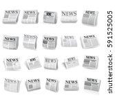 news icon set. vector | Shutterstock .eps vector #591525005