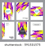 set of abstract geometric... | Shutterstock .eps vector #591531575