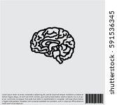 web line icon. human brain | Shutterstock .eps vector #591536345