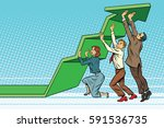business team lift up growth... | Shutterstock .eps vector #591536735