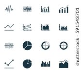 set of graphs  diagrams and... | Shutterstock .eps vector #591543701