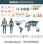medical infographic set with... | Shutterstock .eps vector #591549605