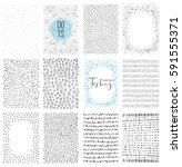 set of scribble backgrounds and ... | Shutterstock .eps vector #591555371