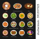 asian food. philippine and... | Shutterstock .eps vector #591557525