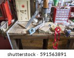 miscellaneous stuff stored in... | Shutterstock . vector #591563891