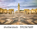 square in front of the famous... | Shutterstock . vector #591567689