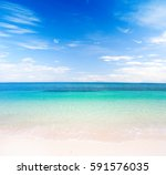 beach and tropical sea | Shutterstock . vector #591576035