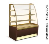 refrigerator with shelves in... | Shutterstock .eps vector #591579641