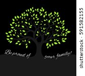 genealogical tree concept.... | Shutterstock .eps vector #591582155